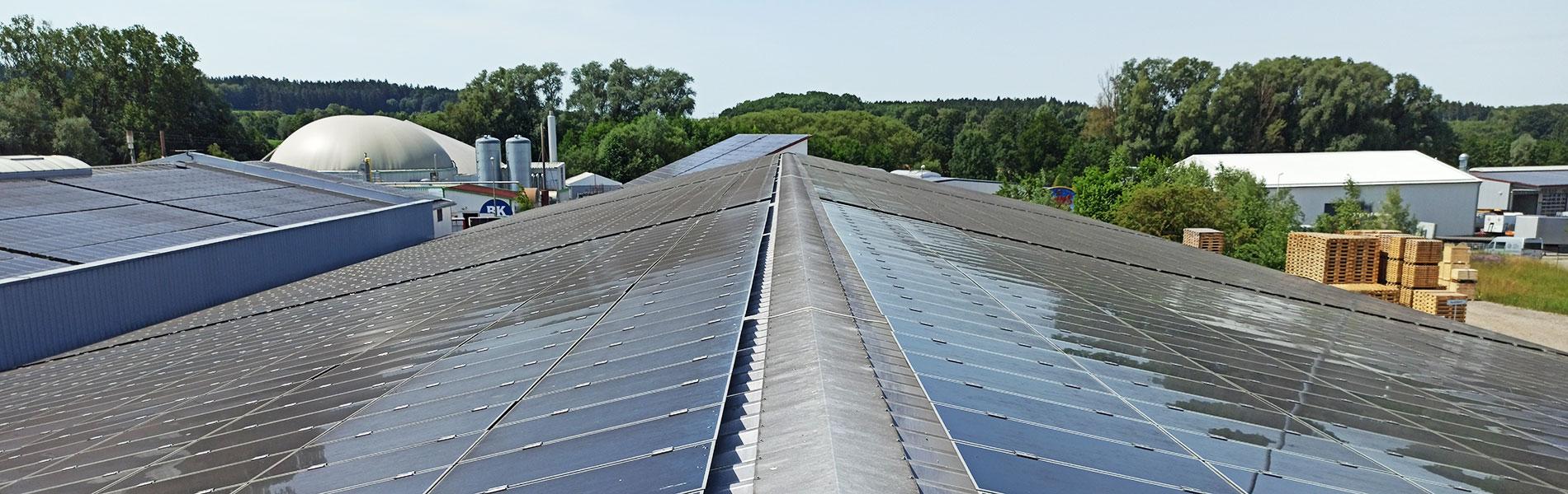 Energiegewinnung auf dem Dach der Kurz Paletten GmbH